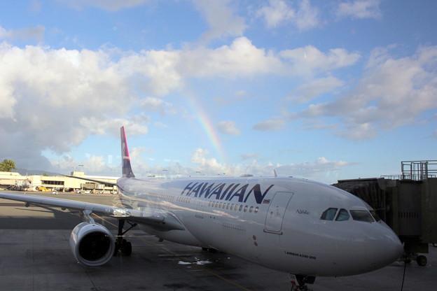 ハワイアン航空虹