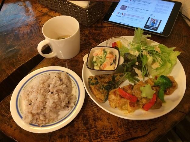 大洲での昼食