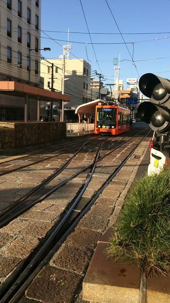 伊予鉄市内電車JR松山駅前電停6 ~路面電車低床車2~
