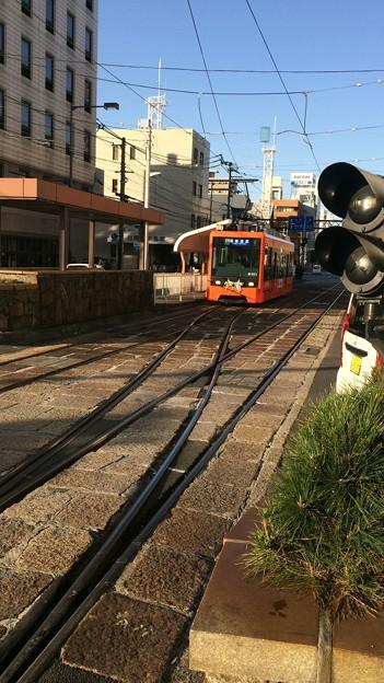 伊予鉄市内電車JR松山駅前電停7 ~路面電車低床車3~