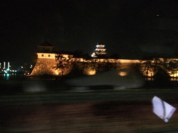 夜の今治城を遠望する1
