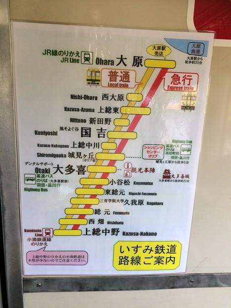 キハ28車内7 ~いすみ鉄道路線図~