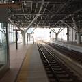 富山駅より魚津・泊・直江津方面を望む