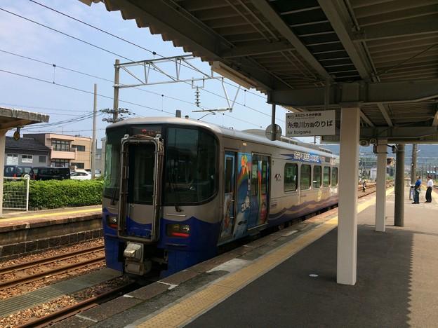 Photos: 泊駅6 ~えちごトキめき鉄道日本海ひすいライン ディーゼルカー~