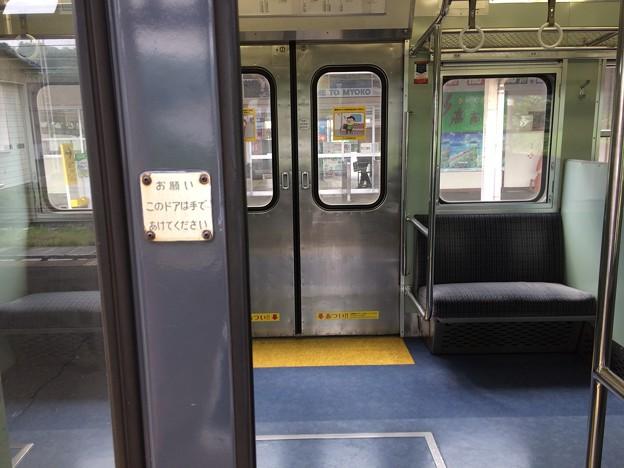 北しなの線 電車ドア 手動開閉2