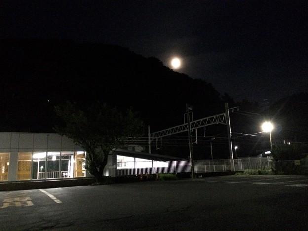 あつみ温泉駅8 ~朧月夜~