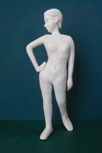 Photos: 紙粘土人形裸婦像67 正面