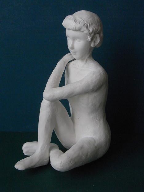 紙粘土人形裸婦像85左向き
