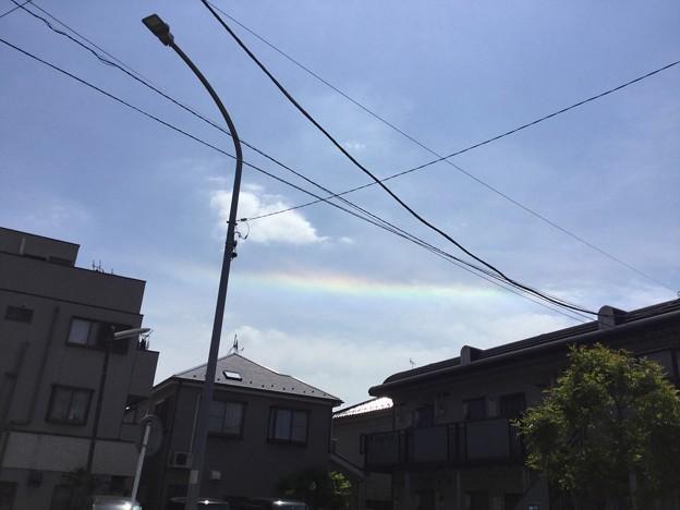 虹色縁の雲