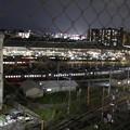 夜の電車庫