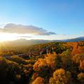 Photos: 色づく三国峠の日の出