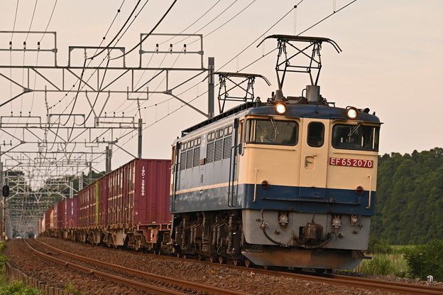 貨物列車 1092レ (EF652070) WB: 晴天日陰バージョン