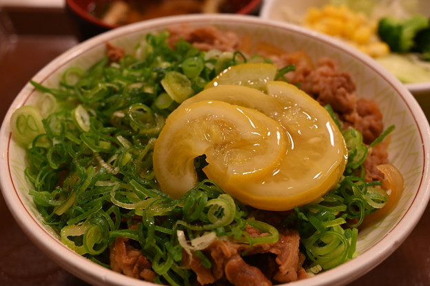 すき家のねぎ塩レモン牛丼