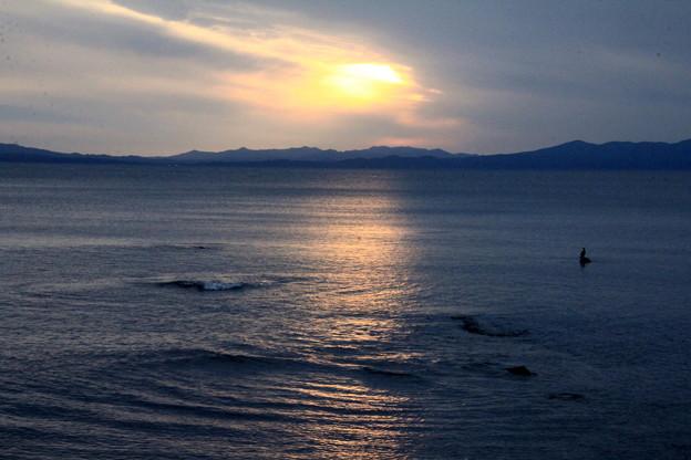 夏泊半島・夕陽