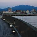北堤防と八甲田山