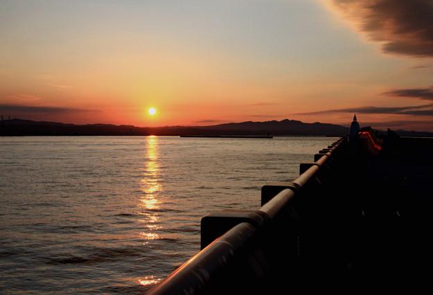 Photos: 北堤防の夕景色