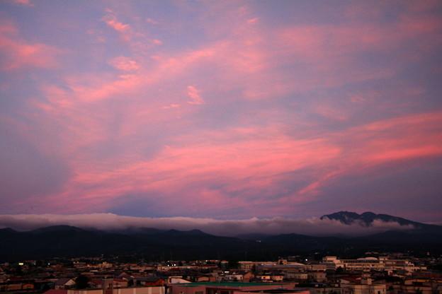 夕焼け八甲田山
