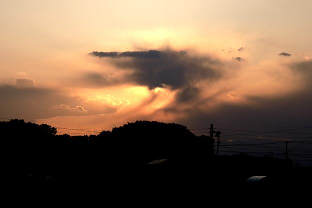 夕方の奇妙な雲