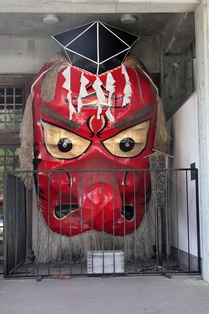 沼田まつりで使用する神輿の天狗の面