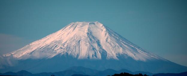 今シーズン初撮り 快晴の積雪富士山