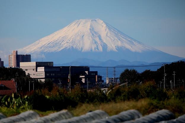 快晴の富士山 積雪 初撮り