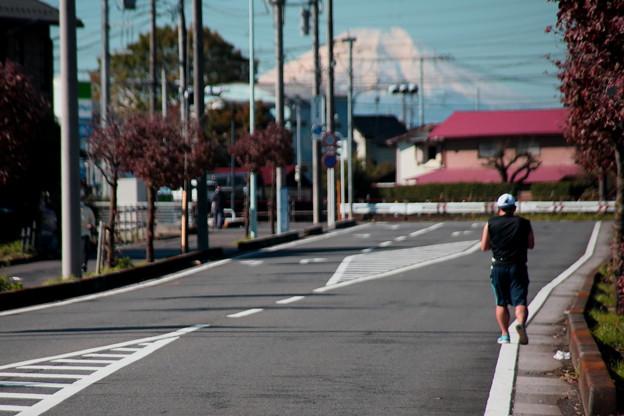 自宅近くからの富士山