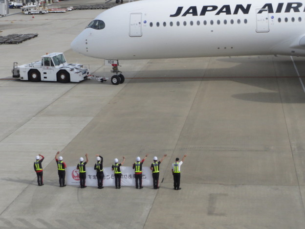 JAL  A350の出発 2