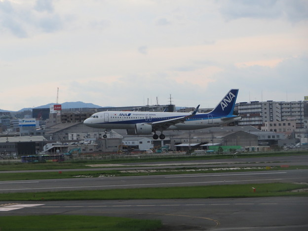 ANA  A320neo ランディング 1