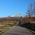 Photos: 残雪残る斜里岳山麓