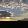 雲が作る朝の景色