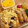 炊き込みご飯と山芋チーズ巻