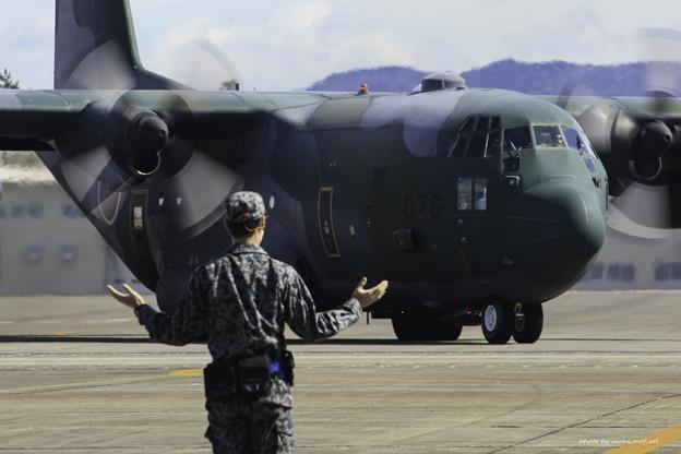 航空自衛隊第1輸送航空隊第401飛行隊 C-130H輸送機 75-1076 IMG_3615-3
