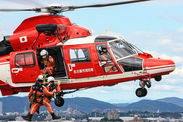 名古屋市消防航空隊 エアバスヘリコプターズ AS365N3 Dauphin2 JA08AR ひでよし IMG_6776-2