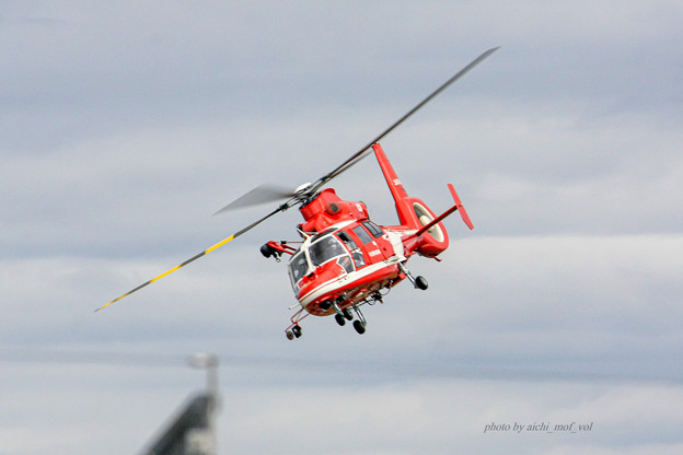 名古屋市消防航空隊 エアバスヘリコプターズ AS365N3 Dauphin2 JA08AR ひでよし IMG_6765-2