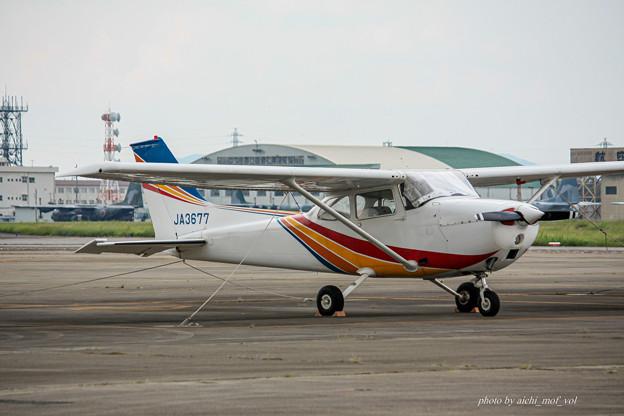 トライスター航空 セスナ172M スカイホーク JA3677 IMG_7073-2