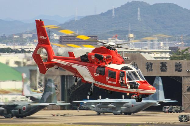 名古屋市消防航空隊 エアバスヘリコプターズ AS365N3 Dauphin2 JA08AR ひでよし IMG_7216-2