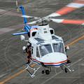 愛知県防災航空隊 ベル412EPI JA23AR わかしゃち IMG_7050-3