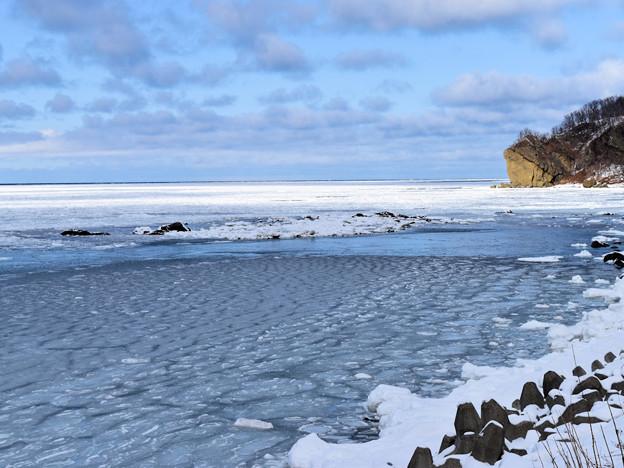 知床半島・宇登呂付近の流氷