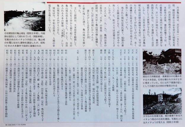 亀山城年表(宗教法人大本が見学者に交付しているパンフレットより)