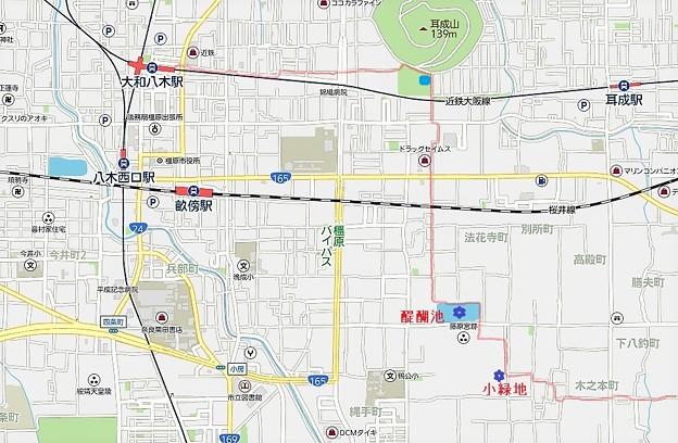 30大和八木駅~耳成山公園~醍醐池~藤原宮跡~香具山北東麓へ