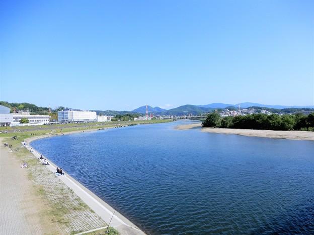 大和川・人道橋から