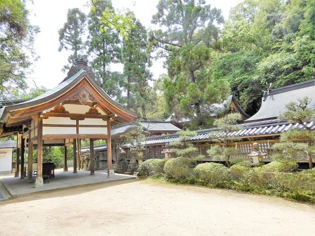 美具久留御魂神社・本殿と上拝殿(北側から)