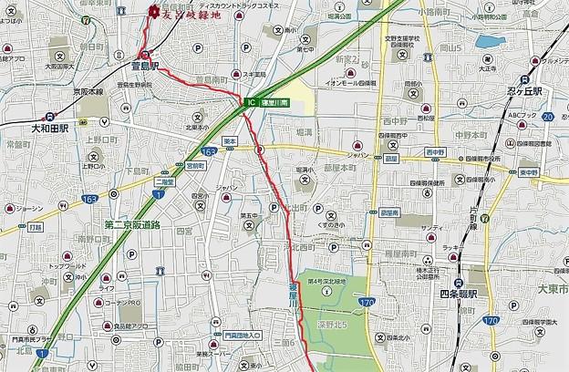 地図3・深北緑地~萱島駅
