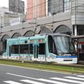Photos: 【鹿児島市電】7000形 7004号車(フランス・ストラスブール市ラッピング車両)