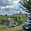 道具小屋と愛車