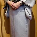 Photos: 銀鼠色単衣着物に雲龍図柄半巾帯