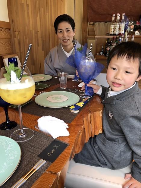 菊川サヴァカでランチ(ケイちゃん入学祝い) (1)
