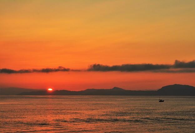 今年は初めての朝陽