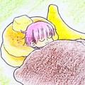 デカめのパンケーキ枕~もちもちバナナクッション添え~