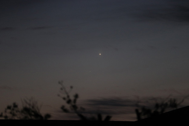 水星と金星の接近